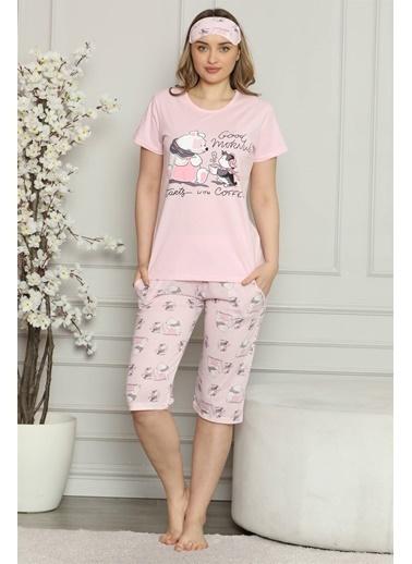 Akbeniz Pijama Takım Pembe
